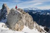 Victor Lavagne à la Sambuy devant le Mont Blanc